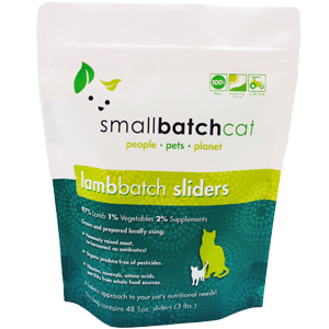 Small Batch Cat lamb Batch 1-oz Sliders Raw Frozen Cat Food, 3-lb