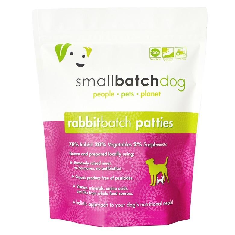 Small Batch Dog Rabbit Batch 1-oz Sliders Raw Frozen Dog Food, 3-lb