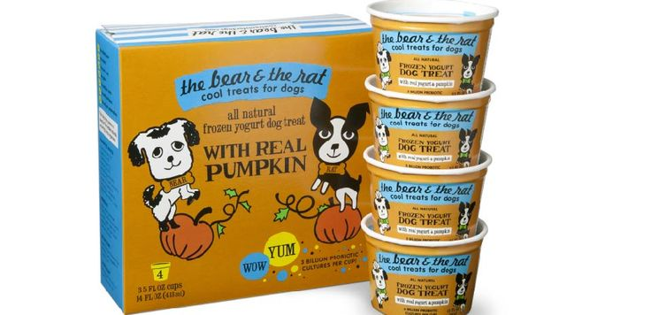 The Bear & The Rat Frozen Yogurt With Real Yogurt & Pumpkin Frozen Treat