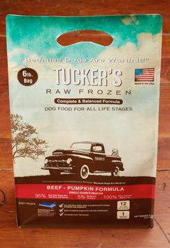 Tucker's Raw Frozen Grain-Free Beef & Pumpkin Formula Raw Frozen Dog Food, 6lbs