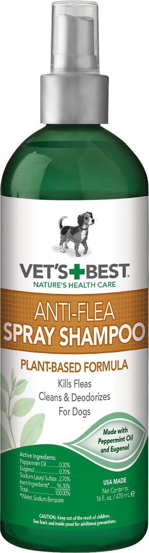 Vet's Best Anti-Flea Easy Spray Shampoo for Dogs, 16-oz bottle