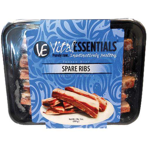 Vital Essentials Treats Beef Spare Ribs Raw Frozen Dog Treats, 2-lb