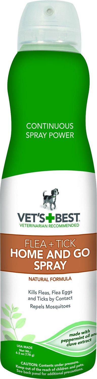 Vet's Best Flea + Tick Home & Go Spray, 6.3-oz bottle