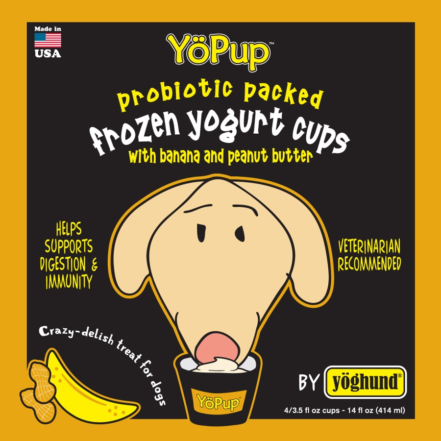 Yoghund Yo Pup Frozen Yogurt Cups Banana & Peanut Butter Dog Treats, 1-pk