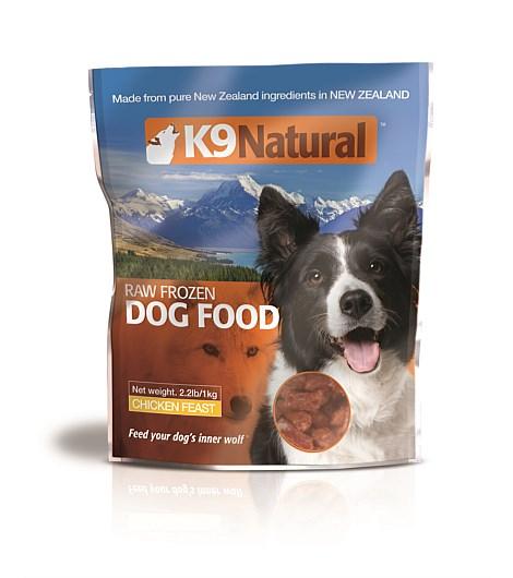 K9 Natural Chicken Feast Grain-Free Frozen Dog Food, 2.2-lb