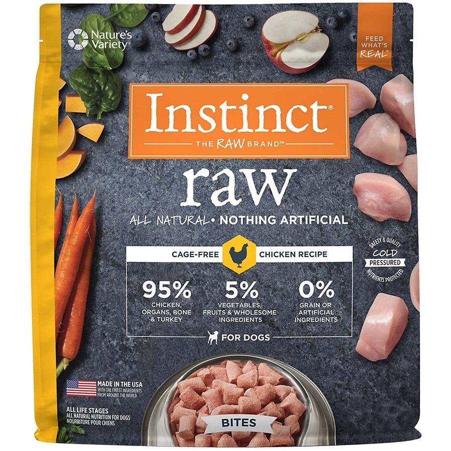 Nature's Variety Instinct Raw Grain-Free Chicken Bites Raw Frozen Dog Food, 8-oz
