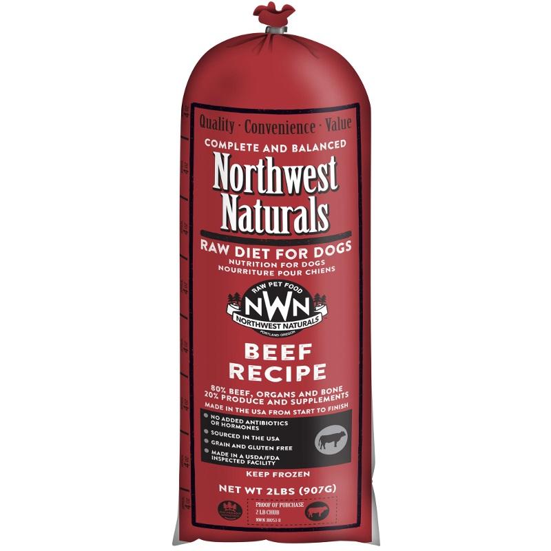 Northwest Naturals Raw Diet Grain-Free Beef Chub Roll Raw Frozen Dog Food