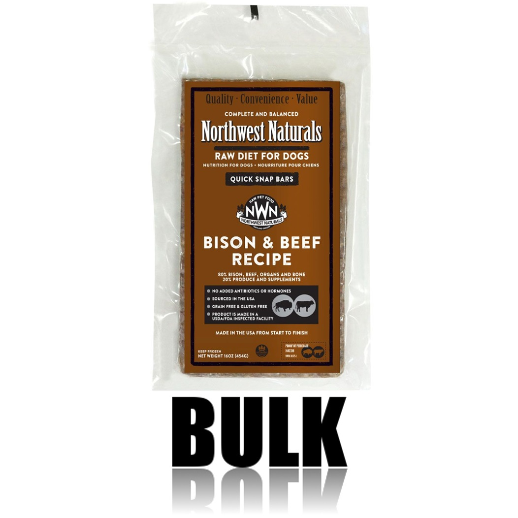 Northwest Naturals Raw Diet Grain-Free Bison & Beef Dinner Bar Raw Frozen Dog Food