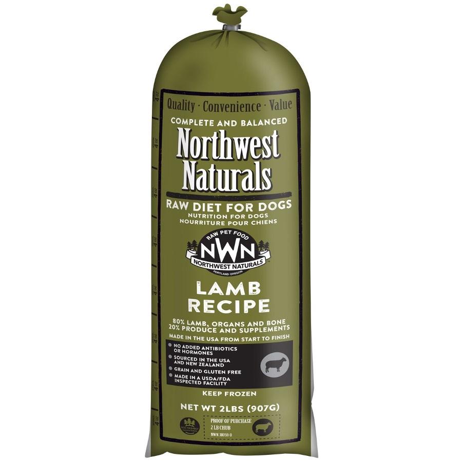 Northwest Naturals Raw Diet Grain-Free Lamb Chub Roll Raw Frozen Dog Food