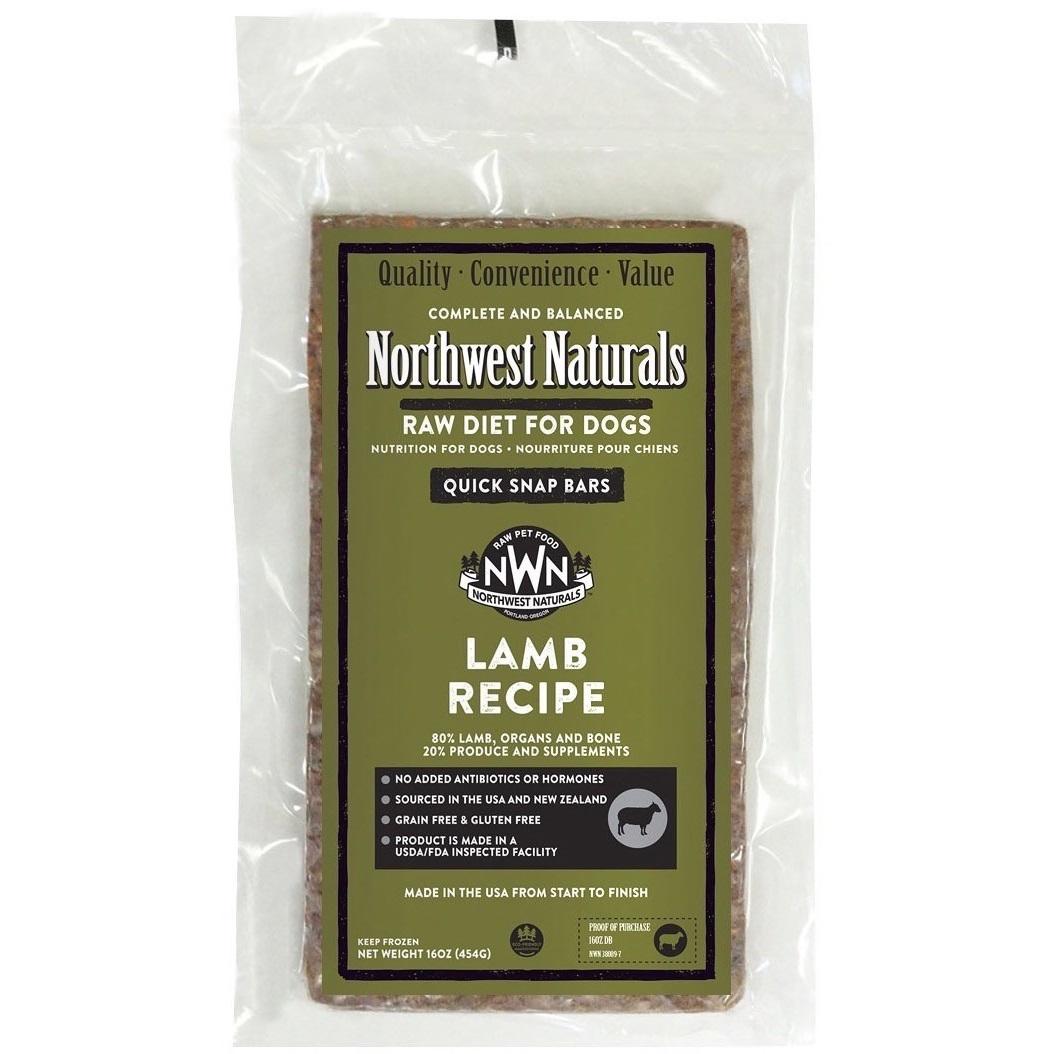 Northwest Naturals Raw Diet Grain-Free Lamb Dinner Bar Raw Frozen Dog Food