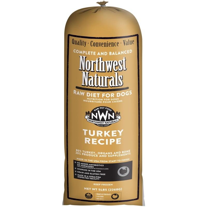 Northwest Naturals Raw Diet Grain-Free Turkey Chub Roll Raw Frozen Dog Food