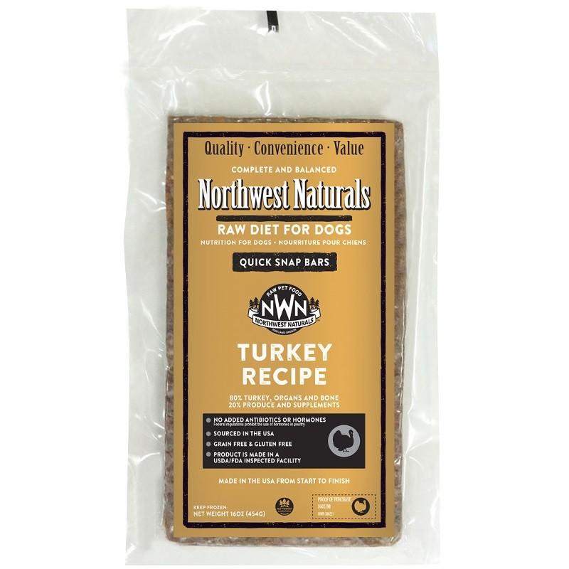 Northwest Naturals Raw Diet Grain-Free Turkey Dinner Bar Raw Frozen Dog Food