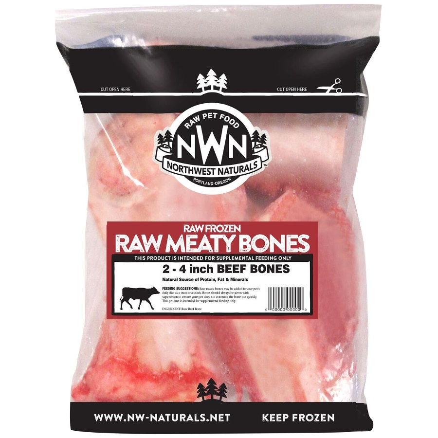 "Northwest Naturals 'Raw Meaty Bones' 4"" Beef Bone Raw Frozen Dog Treats, 2-pk"