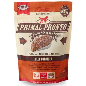 Primal Pronto Raw Beef Formula Raw Frozen Dog Food, 12-oz