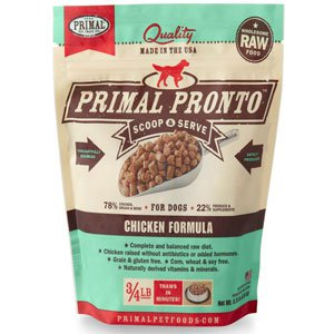 Primal Pronto Raw Chicken Formula Raw Frozen Dog Food, 12-oz
