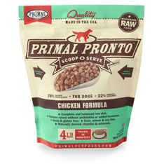 Primal Pronto Raw Chicken Formula Raw Frozen Dog Food, 4-lb
