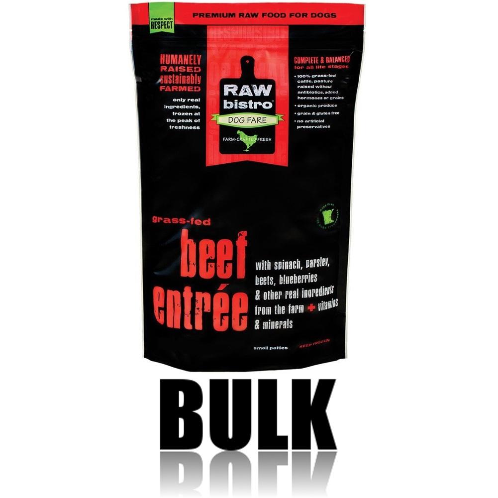 Raw Bistro Free-Range Beef Entree Grain-Free Raw Frozen Dog Food