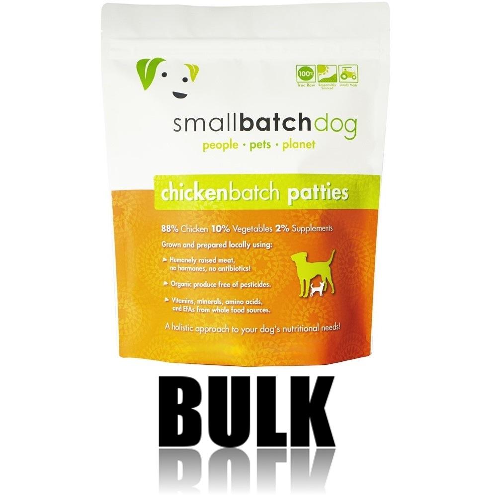 Small Batch Dog Chicken Batch 8-oz Patties Raw Frozen Dog Food, BULK 18-lb