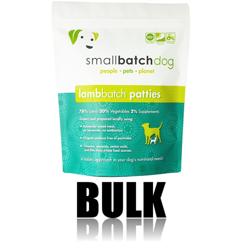Small Batch Dog Lamb Batch 8-oz Patties Raw Frozen Dog Food, BULK 18-lb