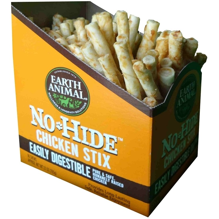 Earth Animal No-Hide Chicken Stix Chew Dog Treat, 1 Count