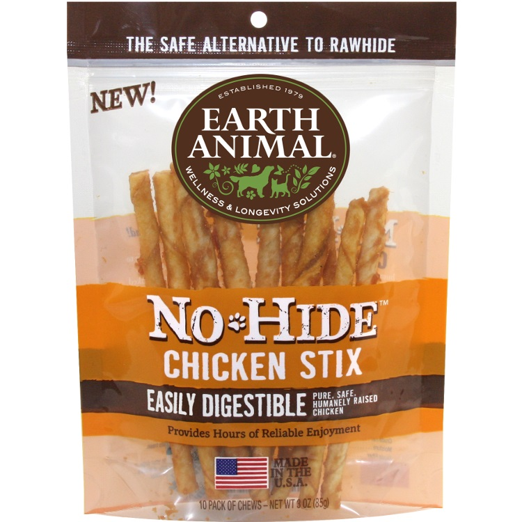 Earth Animal No-Hide Chicken Stix Chew Dog Treat, 3-oz