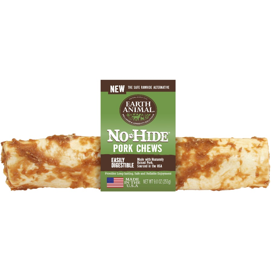 Earth Animal No-Hide Pork Chew Dog Treat, 11-in