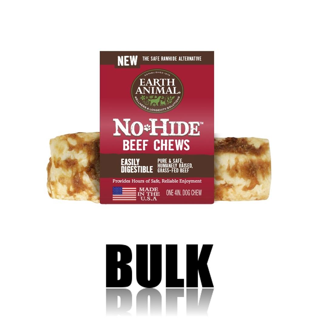 Earth Animal No-Hide Beef Chew Dog Treat, 4-in, 24-unit case