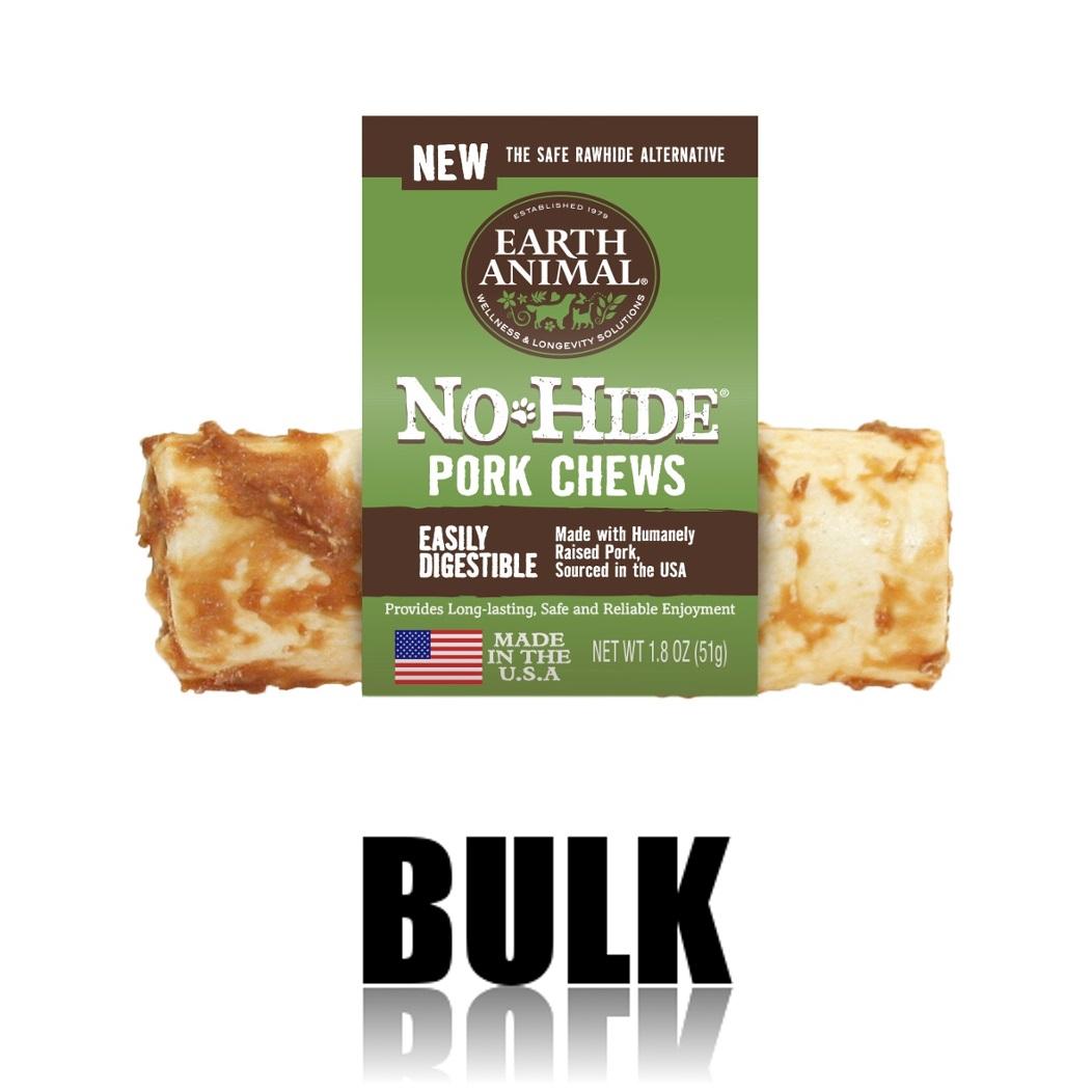 Earth Animal No-Hide Pork Chew Dog Treat, 4-in, 24-unit case