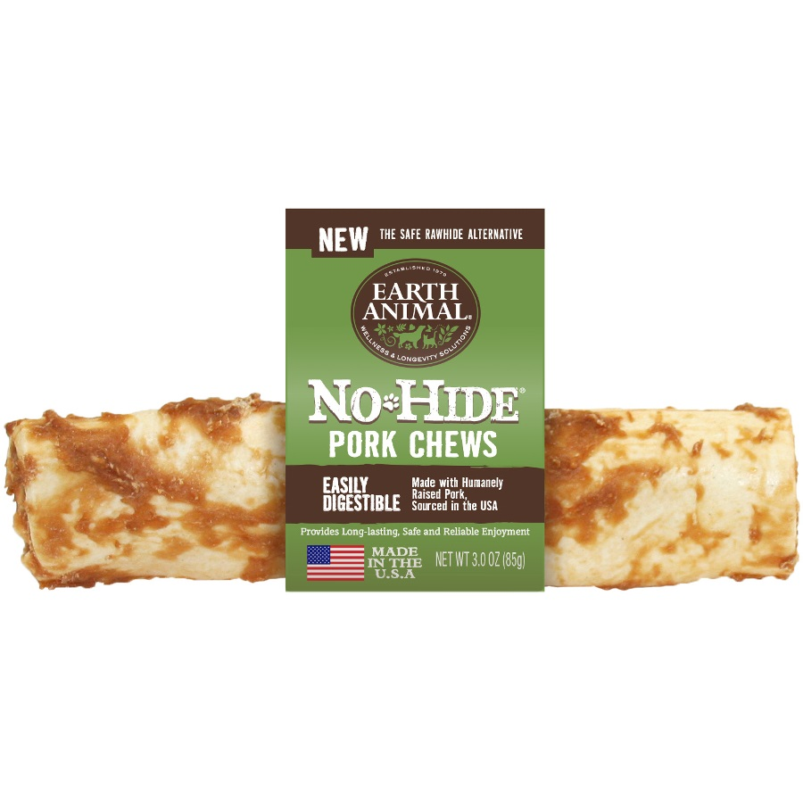 Earth Animal No-Hide Pork Chew Dog Treat, 7-in