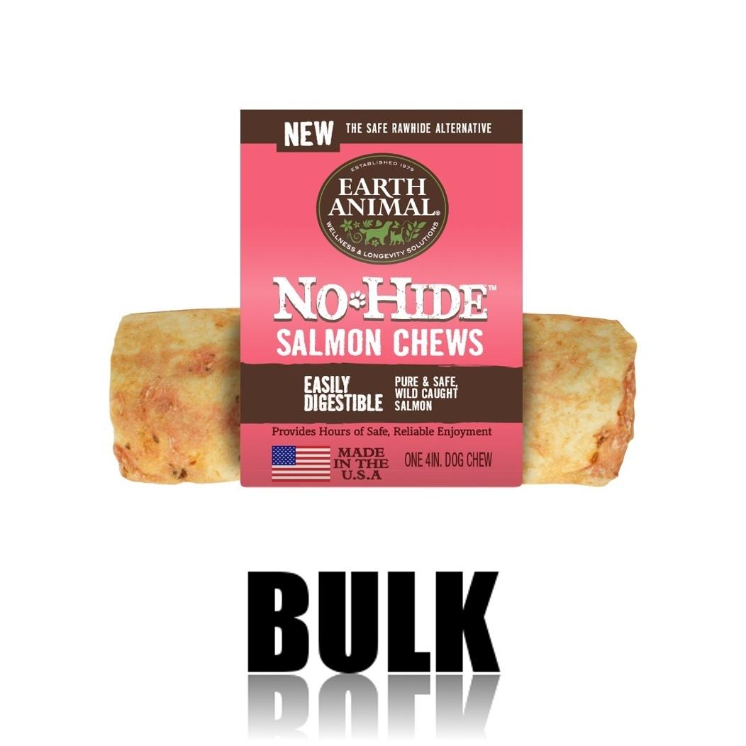 Earth Animal No-Hide Salmon Chew Dog Treat, 4-in, 24-unit case