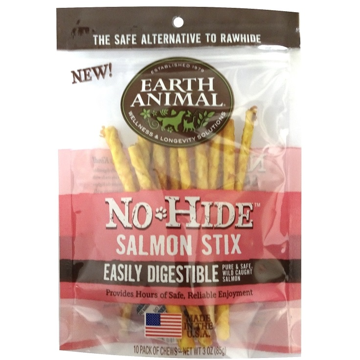 Earth Animal No-Hide Salmon Stix Chew Dog Treat, 3-oz Size: 3-oz