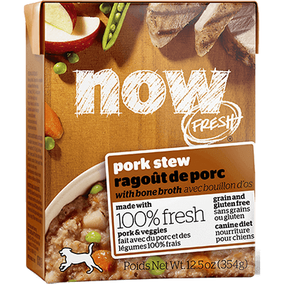 Petcurean Dog Now Fresh Grain Free Pork Stew with Bone Broth Wet Dog Food, 12.5z