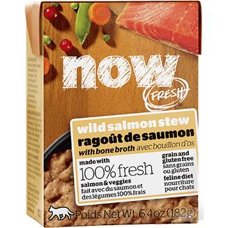 Petcurean Cat Now Fresh Grain Free Wild Salmon Stew with Bone Broth Wet Cat Food