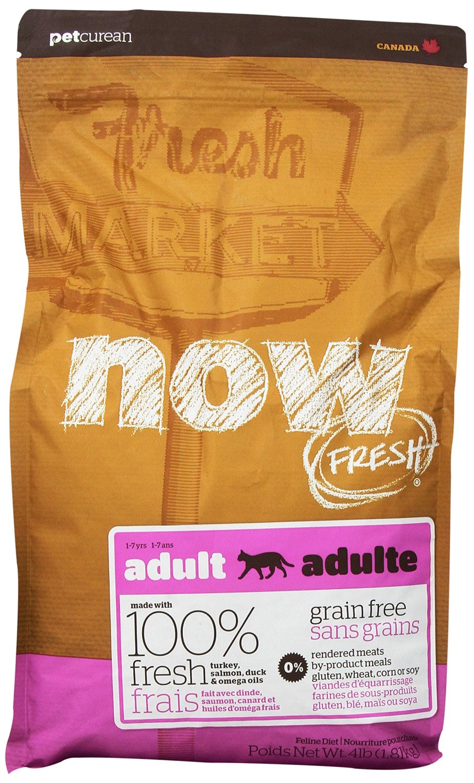 Petcurean Cat Now Fresh Grain-Free Adult Recipe Dry Cat Food, 4lbs