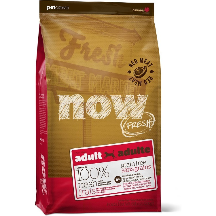 Petcurean Dog Now Fresh Grain-Free Adult Red Meat Recipe Dry Dog Food, 6lbs