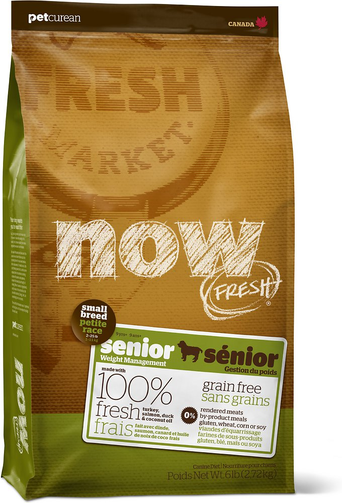 Petcurean Dog Now Fresh Grain-Free Small Breed Senior Recipe Dry Dog Food
