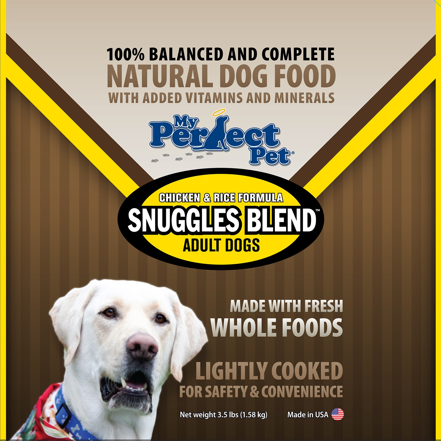 My Perfect Pet Snuggles Chicken & Rice Frozen Dog Food