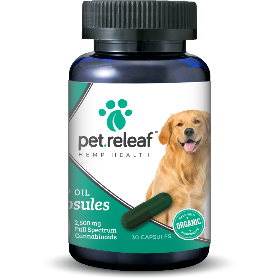 Pet Releaf Oil Capsules Supplement for Dogs & Cats, 30-count