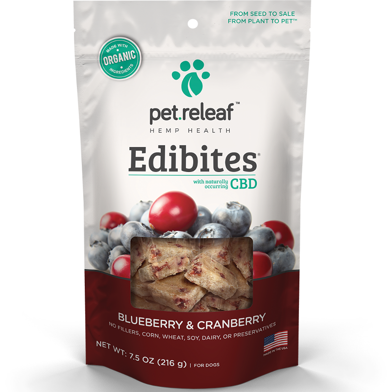 Pet Releaf 'Edibites' Blueberry & Cranberry Dog Treat