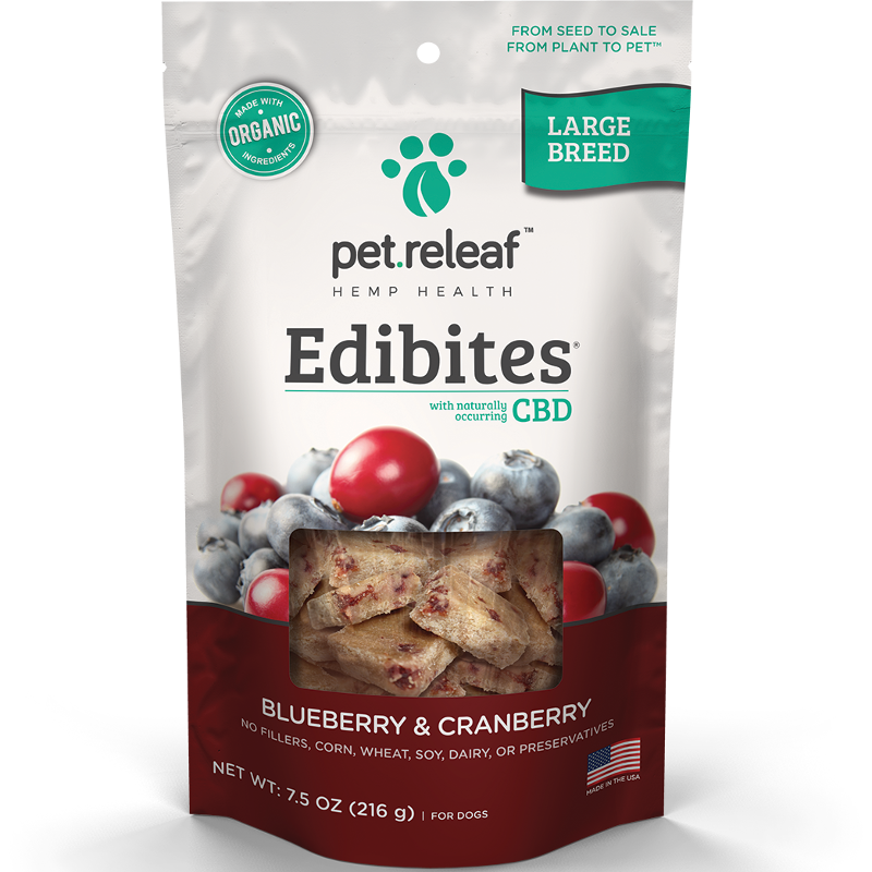 Pet Releaf 'Edibites' Large Breed Blueberry & Cranberry Dog Treat