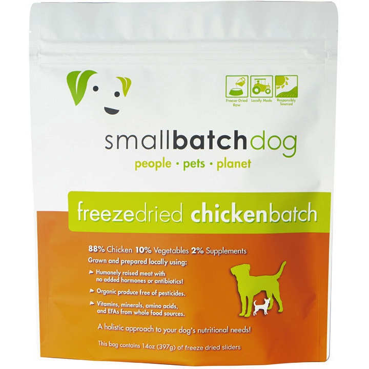 Small Batch Dog Chicken Sliders Freeze-Dried Dog Food, 14-oz