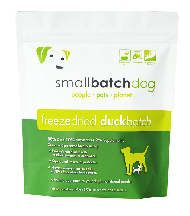 Small Batch Dog Duck Sliders Freeze-Dried Dog Food, 14-oz