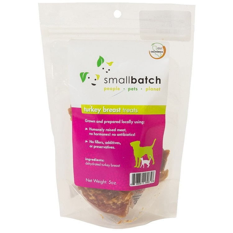 Small Batch Treats Turkey Breast Jerky Dog Treats, 5-oz