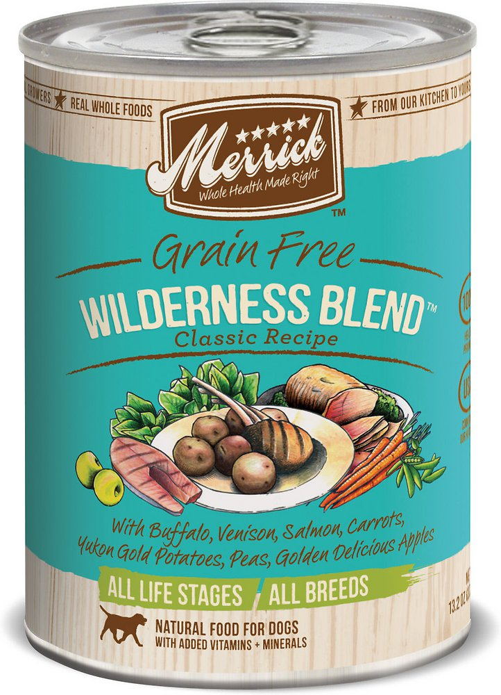 Merrick Grain-Free Wilderness Blend Canned Dog Food, 12.7-oz