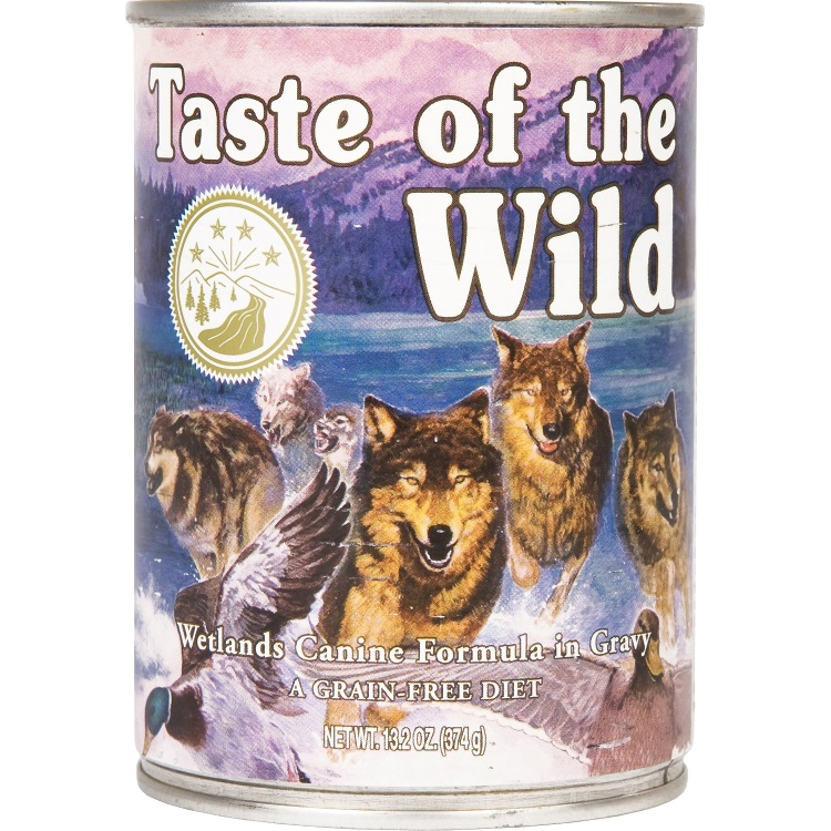 Taste of the Wild Wetlands Grain-Free Canned Dog Food, 13.2-oz, case of 12