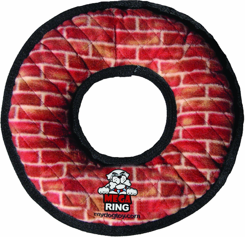 Tuffy's Mega Ring Dog Toy, Brick