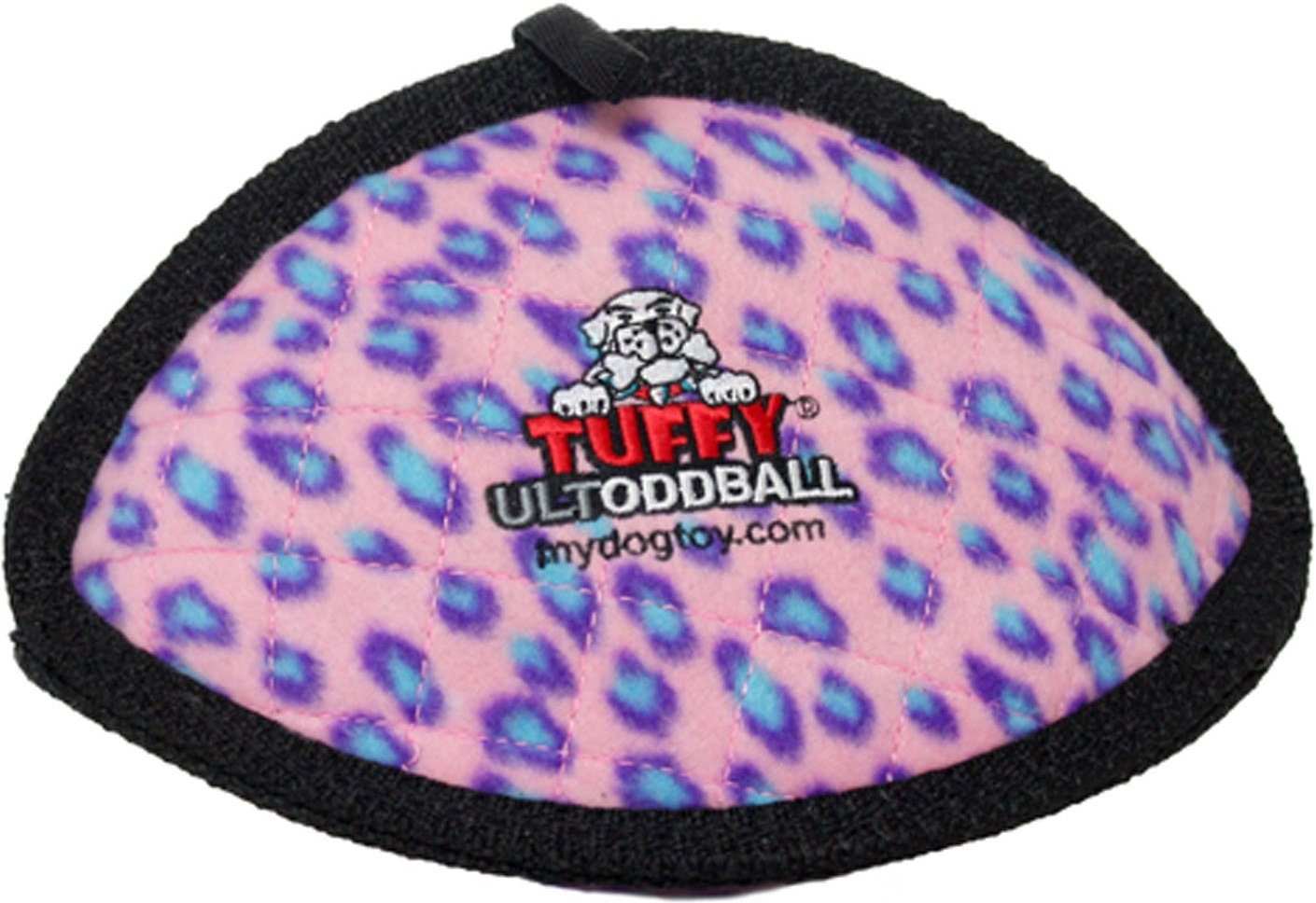 Tuffy's Ultimate Odd Ball Dog Toy, Pink Leopard