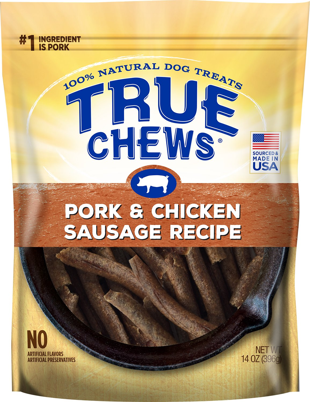 True Chews Pork & Chicken Sausage Recipe Dog Treats, 14-oz bag