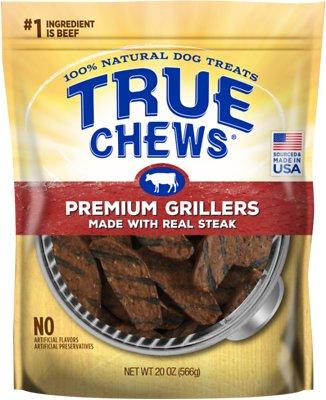 True Chews Premium Grillers with Real Steak Dog Treats, 20-oz