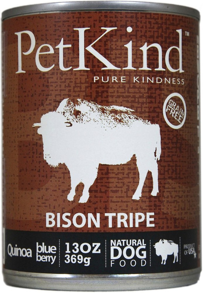 PetKind That's It! Bison Tripe Grain-Free Canned Dog Food, 13-oz